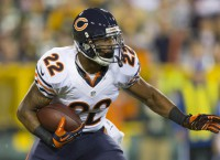 Bears' Forte leaves game with ankle injury