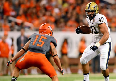 Freshman Conner runs for 229 yards as Pitt tops BG