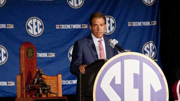 Saban claims Alabama in 'rebuilding situation'