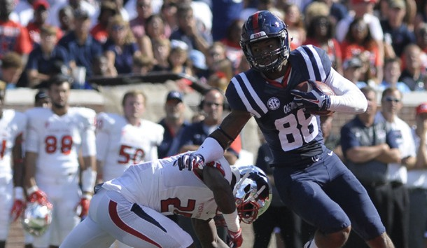 Cody Core (88) is one of many weapons Ole Miss has on offense. (Justin Ford-USA TODAY Sports)