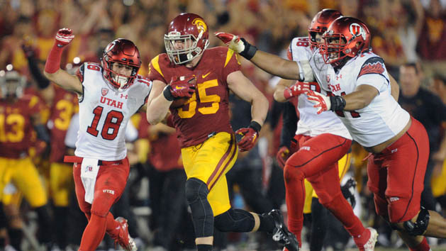 USC whips No. 3 Utah behind LB Smith's 3 INTs