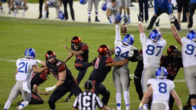 San Diego State hangs on to beat Air Force