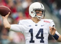 Penn State's Hackenberg exits with shoulder injury