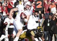 Hogan, McCaffrey lead Stanford to big win over Iowa