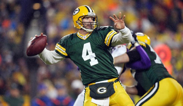 Brett Favre throws a pass during the first quarter against the Minnesota Vikings at Lambeau Field in 2006. Photo Credit: Photo By Jeff Hanisch-USA TODAY Sports Copyright (c) 2006 Jeff Hanisch