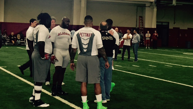 Bama players display talent, enthusiasm at Pro Day
