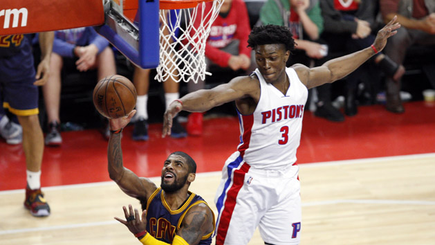 Cavs sweep Pistons behind Irving's hot shooting