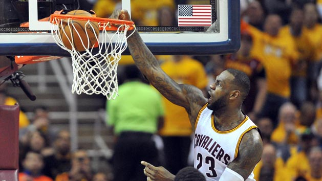 Cavs hold off Hawks rally to take 1-0 series lead