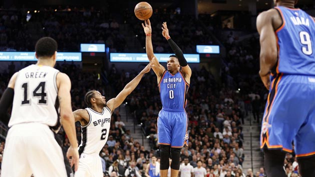 OKC beats Spurs on controversial ending, series 1-1