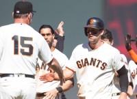 Gillaspie walk-off double gets Giants past Phillies