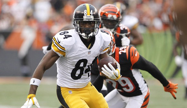 Antonio Brown (84) is the top player on our Fantasy Football board. Photo Credit: Mark Zerof-USA TODAY Sports