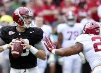 Saban cuts Alabama quarterback list to two