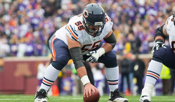 Bears center Hroniss Grasu out for the season with torn ACL