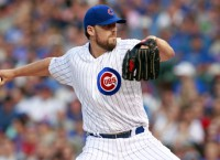 Cubs starter Lackey exits game with injury