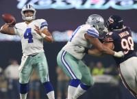 Rookies Prescott, Elliott carry Cowboys past Bears