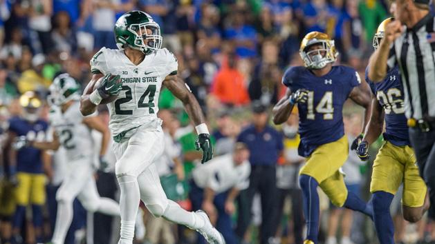 No. 12 MSU hangs on to defeat No. 18 Notre Dame