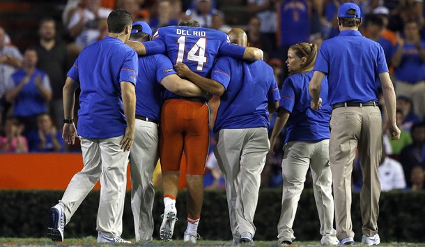 UF not sure if WR Callaway (quads) will play
