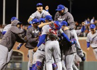 Cubs stun Giants in 9th, advance to NLCS