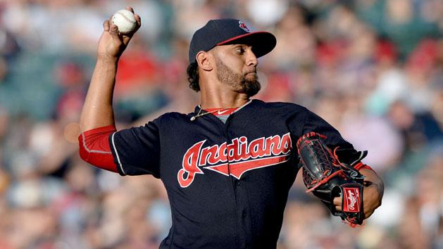 Indians add RHP Salazar to World Series roster