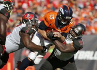 Broncos blast Bucs but lose Siemian