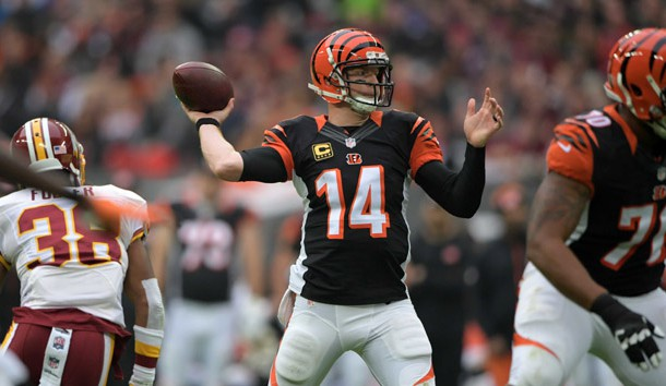 Andy Dalton and the Bengals have a challenging game against the Giants on Monday night. Photo Credit: Kirby Lee-USA TODAY Sports