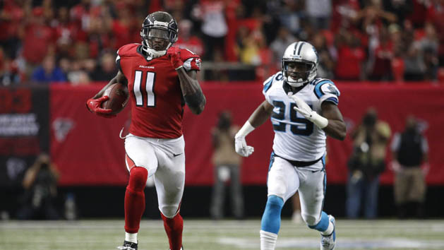 Falcons WR Jones questionable for Rams' game