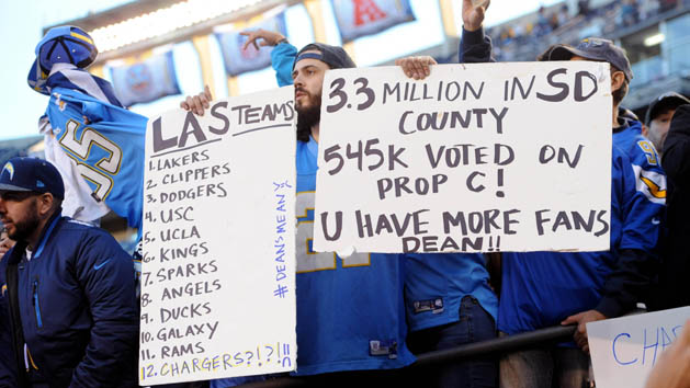 San Diego mayor angered by Chargers move to L.A.