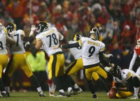 Boswell boots Steelers past K.C., into AFC title game