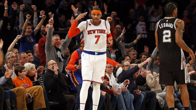 Knicks' Anthony replaces Love on All-Star roster