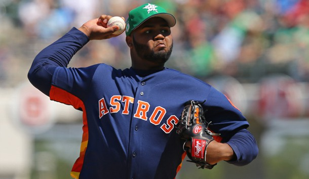 Mar 17, 2017; Fort Myers, FL, USA; Houston Astros relief pitcher Francis Martes (79) throws against the Boston Red Sox in the fifth inning at JetBlue Park. The Astros won 6-2. Photo Credit: Aaron Doster-USA TODAY Sports