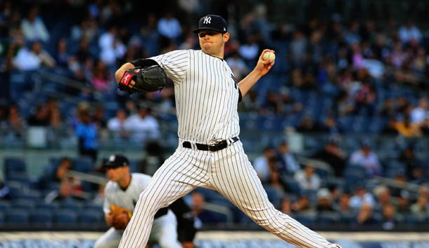 Apr 17, 2017; Bronx, NY, USA; New York Yankees starting pitcher Jordan Montgomery (47) pitches against the Chicago White Sox during the first inning at Yankee Stadium. Photo Credit: Andy Marlin-USA TODAY Sports