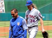 Mets RHP Syndergaard exits with elbow injury