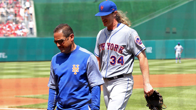 Mets RHP Syndergaard exits with elbow injury