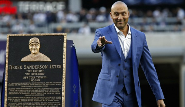 Derek Jeter gives emotional speech as Yankees retire No. 2 jersey