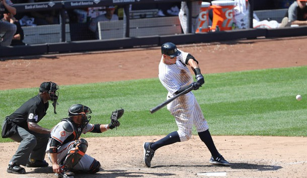 Hicks hits 2 HRs, Montgomery pitches Yankees past O's 8-2