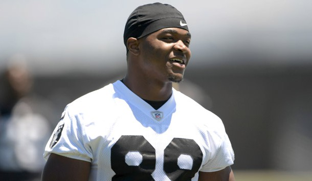 Jun 13, 2017; Alameda, CA, USA; Oakland Raiders receiver Amari Cooper (89) reacts during minicamp at the Raiders practice facility. Photo Credit: Kirby Lee-USA TODAY Sports