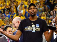 Warriors' Durant adds an important title: Champion!