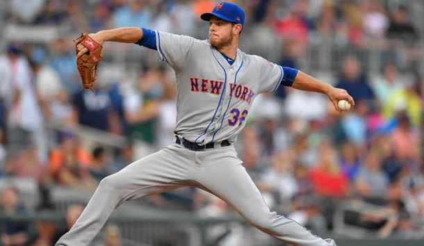 Jun 10, 2017; Atlanta, GA, USA; New York Mets starting pitcher Steven Matz (32) pitches against the Atlanta Braves during the sixth inning at SunTrust Park. Photo Credit: Dale Zanine-USA TODAY Sports