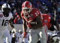Georgia senior RB Chubb plots powerful sendoff