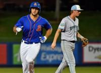 Tebow hits first walk-off home run