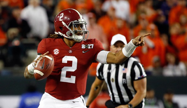 Jalen Hurts should have opportunites to attack the Florida State secondary down-field due to Alabama's powerful running game. Photo Credit: Kim Klement-USA TODAY Sports