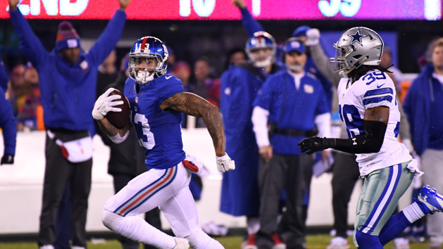 Beckham, Marshall injured in Giants loss to Browns