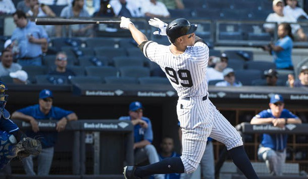Judge hits 49th homer, tying McGwire's Major League Baseball rookie record