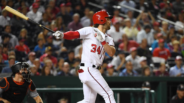 Nats' Harper takes BP for first time since injury