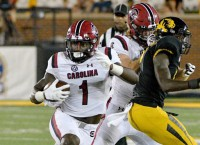 Gamecocks WR Samuel sidelined with leg injury