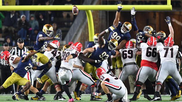 No. 15 Georgia outlasts No. 24 Notre Dame