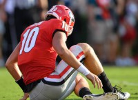 Georgia's  Eason out vs. Notre Dame with knee injury