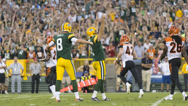 Packers come back to beat Bengals in OT