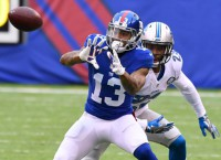 Report: Giants WR Beckham to sit out vs. Browns