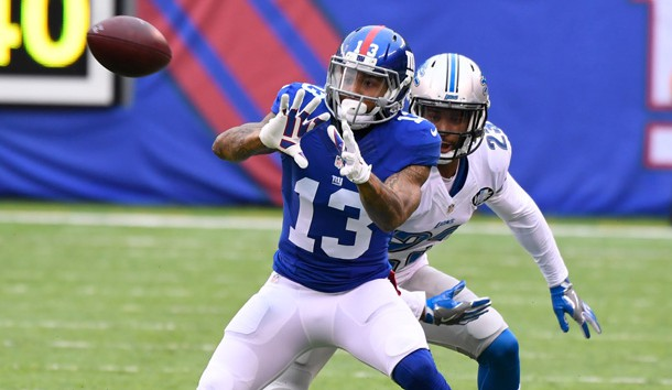 Giants' Beckham returns to practice